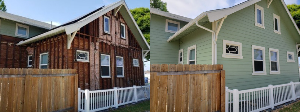 Crumbling Stucco and Dry-Rotted Siding Replaced On San Diego Home